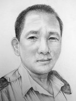 Drakas Gurung<BR>pencil on paper<BR>37.5 x 55 cm<BR>2010