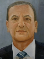 Buddhi Bahadur Thapa<BR> chairman of Hong Kong Integrated Nepalese Society<BR> oil on canvas<BR> 50.8 x 60.6 cm<BR> 2011