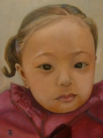 Yuriska Gurung<BR> acrylic on canvas<BR> 50.8 x 60.6 cm<BR> 2011