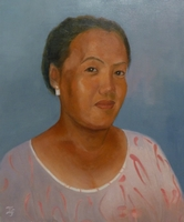 Ashmita Limbu<BR> oil on canvas<BR> 50.8 x 60.6 cm<BR> 2011