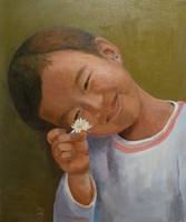 Simran Limbu<BR>oil on canvas<BR>50.8 x 60.6 cm<BR>2011