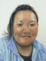 Ruby Gurung<BR>staff of HK Integrated Nepalese Society<BR>pastel on paper<BR>37.5 x 55 cm<BR>2011