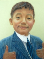 Magom Hang Rai<BR>pastel on paper<BR>37.5 x 55 cm<BR>2011