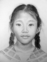 Rajani Limbu<BR>pencil on paper<BR>37.5 x 53 cm<BR>2010