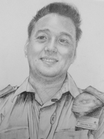 Shrestha Anju<BR>pencil on paper<BR>28.5 x 40 cm<BR>2010