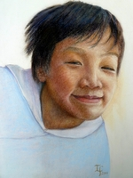 Silash Tamang<BR>pastel on paper<BR>37.5 x 55 cm<BR>2011