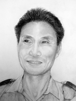 Uttam Kumar Limbu<BR>pencil on paper<BR>37.5 x 55 cm<BR>2010