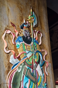 door guard at tin hau temple, kat o